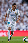 Carlos Henrique Casemiro of Real Madrid in action during the La Liga 2017-18 match between Real Madrid and SD Eibar at Estadio Santiago Bernabeu on 22 October 2017 in Madrid, Spain. Photo by Diego Gonzalez / Power Sport Images