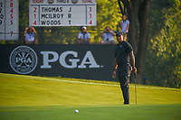 Tiger Woods (USA) watches his putt on 9 during 2nd round of the 100th PGA Championship at Bellerive Country Club, St. Louis, Missouri. 8/11/2018.<br /> Picture: Golffile | Ken Murray<br /> <br /> All photo usage must carry mandatory copyright credit (© Golffile | Ken Murray)
