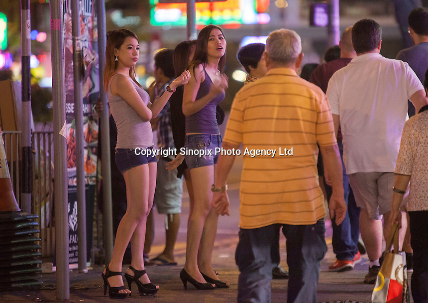 Prostitutes Wanchai red light District. The area where British banker 29-year-old Rurik Jutting, alleged killer of 2 Asian women lived. <br /> <br /> PHOTO BY SINOPIX<br /> <br /> 02-Nov- 2014