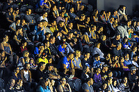 Fans watch the national basketball league match between Wellington Saints and Nelson Giants at TSB Bank Arena, Wellington, New Zealand on Monday, 28 March 2016. Photo: Dave Lintott / lintottphoto.co.nz