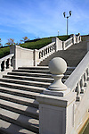 Concrete Stairway And Lamppost In A Beautiful Outdoor Setting, Ault Park, Cincinnati, Ohio