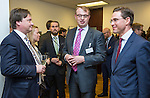BRUSSELS - BELGIUM - 28 November 2016 -- Inauguration of the Nordic Energy Office. --  (f. right) Jyrki Katainen, Vice-president of the European Commission, responsible for Jobs, Growth, Investment and Competitiveness; Jukka Leskelä (Leskela, Leskelae), Finnish Energy; Kari Aalto, Director of the East and North Finland EU Office. -- PHOTO: Juha ROININEN / EUP-IMAGES