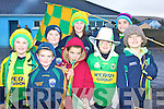 Some of the Skellig Rangers supporters before the final of the South Kerry Senior Football Championship were front l-r Ciara O'Sullivan, Keith Brennan, Stephen Keating, Olivia O'Shea, Niamh Keating, back l-r, Daniel O'Sullivan, Tara O'Sullivan & Fiona Keating.