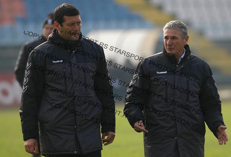 Fudbal, Jelen Super liga, sezona 2009/2010.BSK Borca Vs. Rad.Sefki Arifovski, right and Velicko Kaplanovic.Beograd, 31.10.2009..foto: Srdjan Stevanovic/Starsportphoto ©