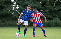 Paris Cowan Hall with Brendan May (right) during the PEAK Elite Sportswear Photoshoot at Wycombe Training Ground, High Wycombe, England on 1 August 2017. Photo by PRiME Media Images.