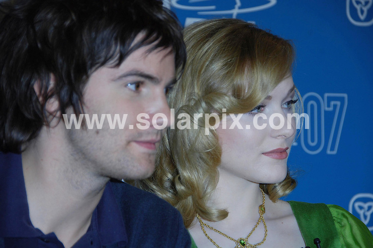 **ALL ROUND PICTURES FROM SOLARPIX.COM**.**WORLDWIDE SYNDICATION RIGHTS**.Pictures show Evan Rachel Wood, Jim Sturgess and Joe Anderson at the Press Conference for the film Across the Universe, in Toronto Canada. 10th September 2007..This pic: Jim Sturgess and Evan Rachel Wood..JOB REF: 4682 MSR    DATE: 10_09_2007.**MUST CREDIT SOLARPIX.COM OR DOUBLE FEE WILL BE CHARGED* *UNDER NO CIRCUMSTANCES IS THIS IMAGE TO BE REPRODUCED FOR ANY ONLINE EDITION WITHOUT PRIOR PERMISSION*