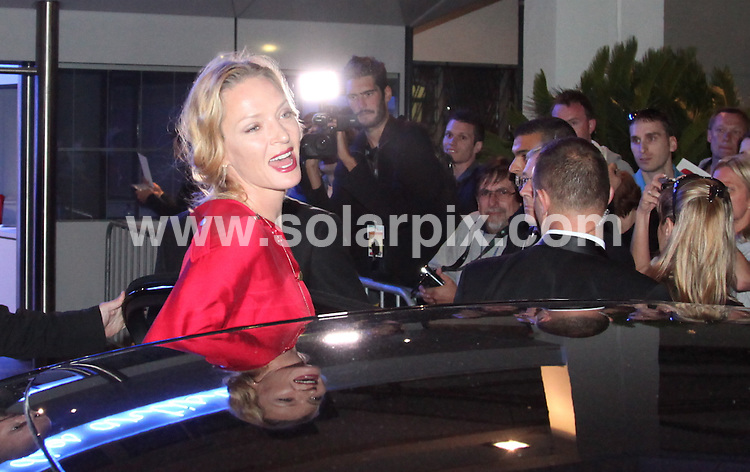 **ALL ROUND PICTURES FROM SOLARPIX.COM**                                             **UK AND SPAIN SYNDICATION RIGHTS ONLY**                                                                                  Caption: Uma Thurman leaves the Congress Hall in Cannes during the 64th Cannes Film Festival, Cannes, France. 15 May 2011                                                                               This pic: Uma Thurman                                                                                             JOB REF: 13347 CPR ML       DATE: 15_05_2011                                                           **MUST CREDIT SOLARPIX.COM OR DOUBLE FEE WILL BE CHARGED**                                                                      **MUST AGREE FEE BEFORE ONLINE USAGE**                               **CALL US ON: +34 952 811 768 or LOW RATE FROM UK 0844 617 7637**