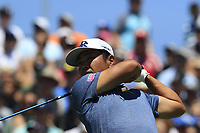 Hideto Tanihara (JPN) tees off the 1st tee to start his match during Friday's Round 2 of the 117th U.S. Open Championship 2017 held at Erin Hills, Erin, Wisconsin, USA. 16th June 2017.<br /> Picture: Eoin Clarke | Golffile<br /> <br /> <br /> All photos usage must carry mandatory copyright credit (&copy; Golffile | Eoin Clarke)