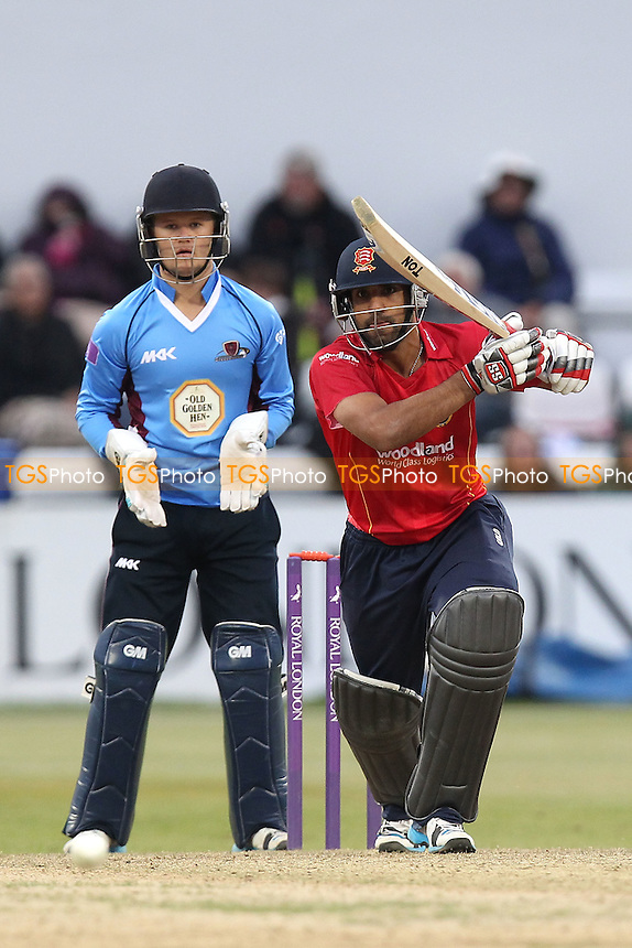 Ravi Bopara in batting action for Essex as Ben Duckett looks on - Northamptonshire Steelbacks vs Essex Eagles - Royal London One-Day Cup at the County Ground, Northampton - 21/08/14 - MANDATORY CREDIT: Gavin Ellis/TGSPHOTO - Self billing applies where appropriate - contact@tgsphoto.co.uk - NO UNPAID USE