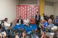 US Men's National Team Press Conference after FIFA World Cup qualifier against El Salvador. USA tied El Salvador 2-2 at Estadio Cuscatlán Stadium in El Salvador on March 28, 2009.