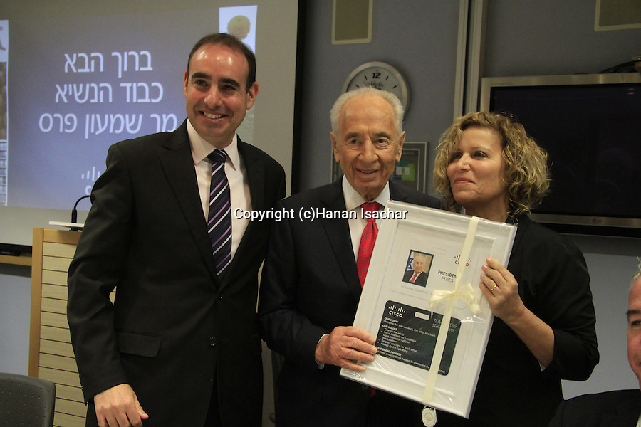 President Shimon Peres delivered the largest online civics class in the world from Cisco's Headquarters in Israel, setting a new Guinness World Record