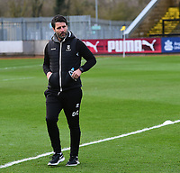 Lincoln City manager Danny Cowley during the pre-match warm-up<br /> <br /> Photographer Andrew Vaughan/CameraSport<br /> <br /> The EFL Sky Bet League Two - Cambridge United v Lincoln City - Saturday 29th December 2018  - Abbey Stadium - Cambridge<br /> <br /> World Copyright © 2018 CameraSport. All rights reserved. 43 Linden Ave. Countesthorpe. Leicester. England. LE8 5PG - Tel: +44 (0) 116 277 4147 - admin@camerasport.com - www.camerasport.com