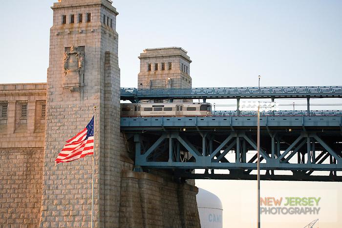 High Speedline train, Ben Franklin Bridge, New Jersey