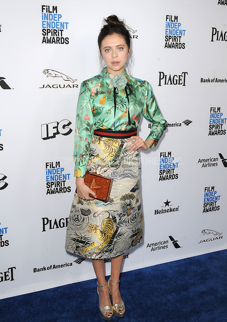 WWW.ACEPIXS.COM<br /> <br /> January 9 2016, New York City<br /> <br /> Bel Powley arriving at the 2016 Film Independent Filmmaker Grant and Spirit Award Nominees Brunch at BOA Steakhouse on January 9, 2016 in West Hollywood, California. <br /> <br /> By Line: Peter West/ACE Pictures<br /> <br /> <br /> ACE Pictures, Inc.<br /> tel: 646 769 0430<br /> Email: info@acepixs.com<br /> www.acepixs.com
