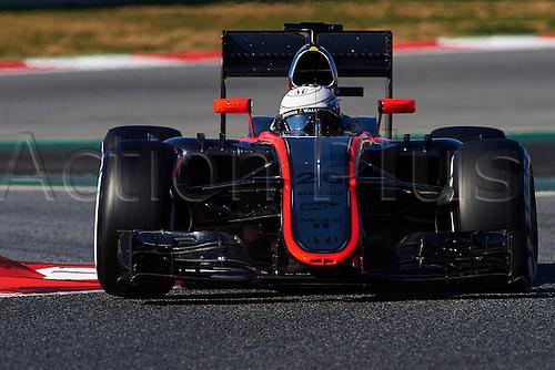 28.02.2015. Barcelona, Spain. F1 winter testing at Circuit de Barcelona.  Kevin Magnussen (McLaren Honda), during day three of the final Formula One Winter Testing