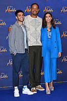 Mena Massoud, Will Smith and Naomi Scott<br /> at 'Aladdin' film photocall with the cast at the Rosewood Hotel, London, England on May 10, 2019<br /> CAP/JOR<br /> &copy;JOR/Capital Pictures