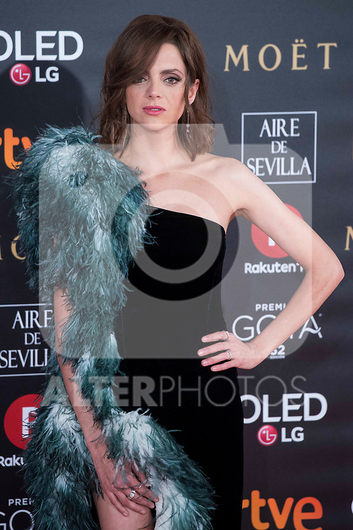 Macarena Gomez attends red carpet of Goya Cinema Awards 2018 at Madrid Marriott Auditorium in Madrid , Spain. February 03, 2018. (ALTERPHOTOS/Borja B.Hojas)