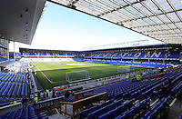 Pictured: Interior view of Goodison Park. Sunday 16 February 2014<br />