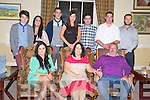 Kathleen O'Donoghue, Glenflesk, pictured with Norissa and Pat O'Donoghue, Lee, Marlene and Jeff O'Donoghue, Emma Looney, Ger O'Donoghue, PJ O'Donoghue and Gene McCarthy as she celebrated her 50th birthday in The Malton hotel, Killarney on Friday night...........................................................................................
