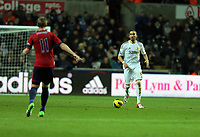 Sunday, 28 November 2012<br /> Pictured: (L-R) Chris Brunt and Chico FLores.<br /> Re: Barclays Premier League, Swansea City FC v West Bromwich Albion at the Liberty Stadium, south Wales.
