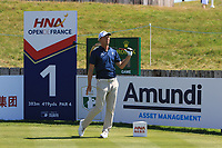 Marcel Siem (GER) on the 1st tee during Round 1 of the HNA Open De France at Le Golf National in Saint-Quentin-En-Yvelines, Paris, France on Thursday 28th June 2018.<br /> Picture:  Thos Caffrey | Golffile