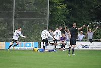 VOETBAL: DRACHTEN: 20-09-2014, Drachtster Boys - VV Staphorst, uitslag 2-1, Peter Jansen Klomp (#19) van Drachtster Boys scoort de winnende treffer, ©foto Martin de Jong
