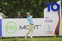 Borja Etchart (ESP) on the 10th tee during Round 1 of the D+D Real Czech Masters at the Albatross Golf Resort, Prague, Czech Rep. 31/08/2017<br /> Picture: Golffile | Thos Caffrey<br /> <br /> <br /> All photo usage must carry mandatory copyright credit     (&copy; Golffile | Thos Caffrey)