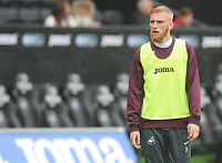 Swansea City's Oliver McBurnie during the pre-match warm-up <br /> <br /> Photographer Kevin Barnes/CameraSport<br /> <br /> The EFL Sky Bet Championship - Swansea City v Preston North End - Saturday August 11th 2018 - Liberty Stadium - Swansea<br /> <br /> World Copyright &copy; 2018 CameraSport. All rights reserved. 43 Linden Ave. Countesthorpe. Leicester. England. LE8 5PG - Tel: +44 (0) 116 277 4147 - admin@camerasport.com - www.camerasport.com