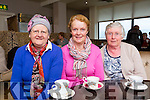 Helen Cashell, Noleen Mackessy and Magella at the Chernobyl Children coffee morning in the Killarney Golf and fishing club on Thursday morning