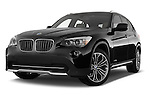 Low aggressive front three quarter view of a 2012 Bmw X1 xDrive20d 5 Door Suv 2WD