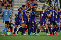 Piscataway, NJ - Wednesday Sept. 07, 2016: Alex Morgan,  Jamia Fields, Cammi Levin, Monica, Sarah Killion during a regular season National Women's Soccer League (NWSL) match between Sky Blue FC and the Orlando Pride FC at Yurcak Field.