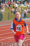 Christine Brosnan Castleisland concentrates as she speeds down the track during the 4x100m relay during the Community Games County finals in An Riocht Castleisland last Sunday.