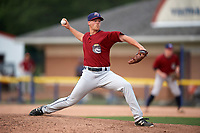 Mahoning Valley Scrappers relief pitcher Jonathan Teaney (30) delivers a pitch in the bottom of the seventh inning during the second game of a doubleheader against the Batavia Muckdogs on September 4, 2017 at Dwyer Stadium in Batavia, New York.  Mahoning Valley defeated Batavia 6-2 to clinch the Pinckney Division Title.  (Mike Janes/Four Seam Images)