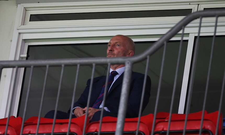 Crystal Palace's Manager Ian Holloway  watching from a private box serving his ban from the touchline<br /> <br /> Photo by Kieran Galvin/CameraSport<br /> <br /> Football - Barclays Premiership - Crystal Palace v Swansea City - Sunday 22nd September 2013 - Selhurst Park - London<br /> <br /> &copy; CameraSport - 43 Linden Ave. Countesthorpe. Leicester. England. LE8 5PG - Tel: +44 (0) 116 277 4147 - admin@camerasport.com - www.camerasport.com