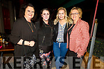 Helen Merritt, Hazel Kelly, Amanda Shanahan and Susan O'Shea enjoying the evening in the Fiddler Bar on Friday.