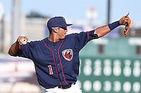 Carlos Correa #1 of the Lancaster JetHawks during a game against the Lake Elsinore Storm at The Hanger on April 6, 2014 in Lancaster, California. Lancaster defeated Lake Elsinore, 7-4. (Larry Goren/Four Seam Images)