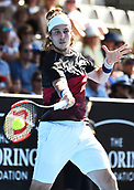 9th January 2018, ASB Tennis Centre, Auckland, New Zealand; ASB Classic, ATP Mens Tennis;  Lukas Lacko (SVK) during the ASB Classic ATP Men's Tournament Day 2
