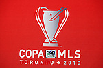 19 November 2010: Copa MLS 2010 logo. The Colorado Rapids held a press conference at BMO Field in Toronto, Ontario, Canada as part of their preparations for MLS Cup 2010, Major League Soccer's championship game.