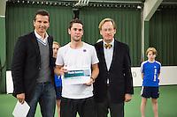 20-01-13, Tennis, Rotterdam, Wildcard for qualification ABNAMROWTT, Richard Krajicek en verliezend finalist Jesse Timmermans