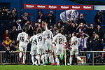 Real Madrid's Mateo Kovacic Luka Modric Raphael Varane Daniel Carvajal Lucas Vazquez Cristiano Ronaldo during the match of La Liga between Atletico de Madrid and Real Madrid at Vicente Calderon Stadium  in Madrid , Spain. November 19, 2016. (ALTERPHOTOS/Rodrigo Jimenez)