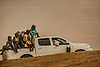 AGADEZ, NIGER &mdash; <br /> A pick-up truck filled with migrants returns to the city of Agadez after it was turned back by military checkpoints in the Sahara desert.