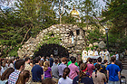 May 4, 2018; Center for Ethics and Culture year-end Mass at the Grotto (Photo by Matt Cashore/University of Notre Dame)