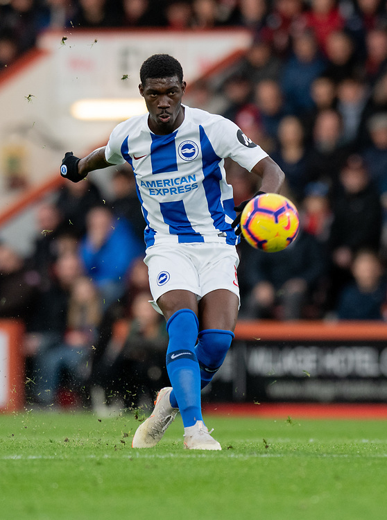 Brighton & Hove Albion's Yves Bissouma <br /> <br /> Photographer David Horton/CameraSport<br /> <br /> The Premier League - Bournemouth v Brighton and Hove Albion - Saturday 22nd December 2018 - Vitality Stadium - Bournemouth<br /> <br /> World Copyright © 2018 CameraSport. All rights reserved. 43 Linden Ave. Countesthorpe. Leicester. England. LE8 5PG - Tel: +44 (0) 116 277 4147 - admin@camerasport.com - www.camerasport.com