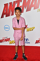 Miles Brown at the premiere for &quot;Ant-Man and the Wasp&quot; at the El Capitan Theatre, Los Angeles, USA 25 June 2018<br /> Picture: Paul Smith/Featureflash/SilverHub 0208 004 5359 sales@silverhubmedia.com