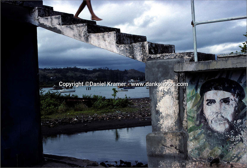 Near the harbor at Baracoa, site of Spain's first settlement in Cuba. (1999)