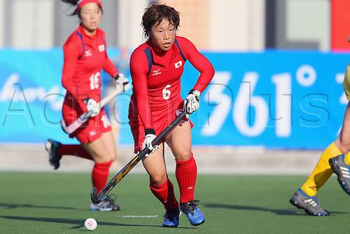 15.11.2010 Keiko Manabe (JPN), .. Hockey : 2010 Guangzhou Asian Games, Women's Preliminary Group A Game 1 match between Japan 4-1 Kazakhstan ..at Aoti Hockey Field, Guangzhou, China. ..