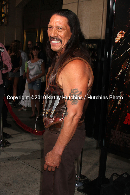 """LOS ANGELES - AUG 25:  Danny Trejo arrives at the """"Machette""""  Premiere at Orpheum Theater on August 25, 2010 in Los Angeles, CA"""