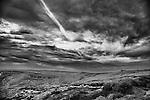 Peak District Vista, grass, moor, rock with a huge sky overhead