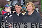 Jack Hegarty, Dan and Margaret Nelligan Castleisland enjoying the Castleisland Horse Fair on Monday