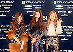 -Girls' Generation-TTS, Oct 28, 2014 : (L-R) Tiffany, Seo-Hyun and Tae-Yeon of Girls' Generation-TTS, a subgroup of South Korean girl group Girls' Generation or SNSD, pose before the 2014 Style Icon Awards in Seoul, South Korea. The Style Icon Awards (SIA) is a style and culture festival. (Photo by Lee Jae-Won/AFLO) (SOUTH KOREA)